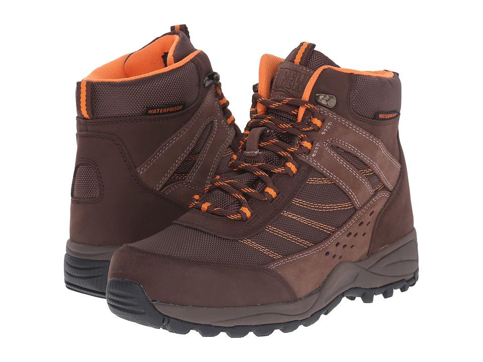 Drew Glacier Waterproof Boot (Brown Nubuck/Orange Trim) Women