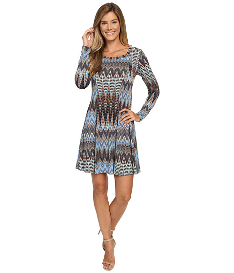 Karen Kane Desert Zigzag A-Line Dress