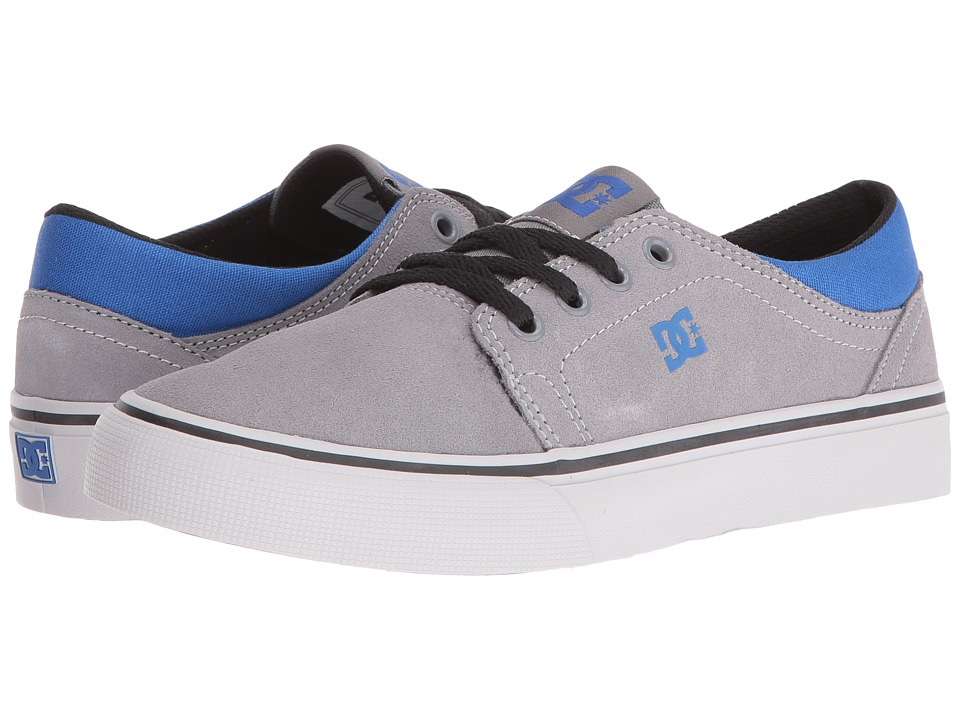 DC Kids Trase (Big Kid) (Grey/Black/Blue) Boys Shoes