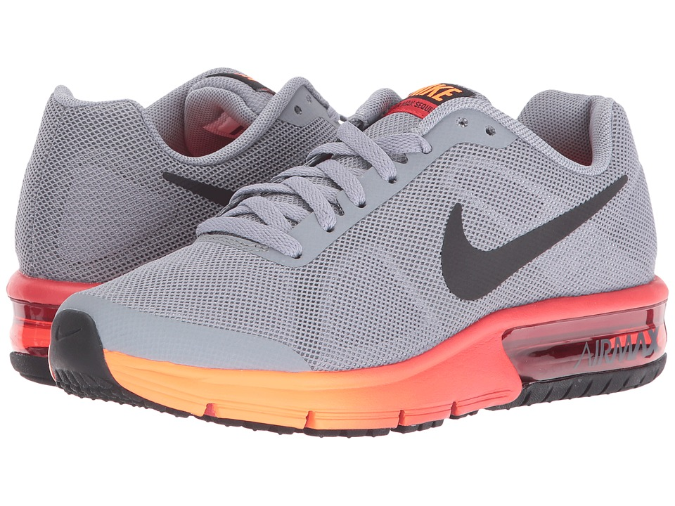 Nike Kids Air Max Sequent (Big Kid) (Stealth/University Red/Total Orange/Black) Boys Shoes