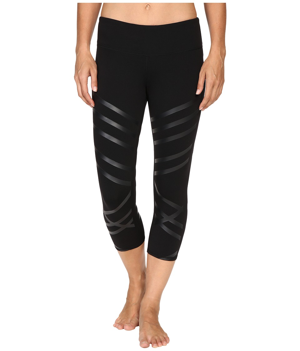 Image of ALO - Airbrushed Capri (Black Lineal) Women's Workout