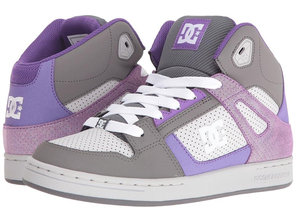 DC Kids - Rebound SE (Big Kid) (Grey/Grey/White) Girls Shoes