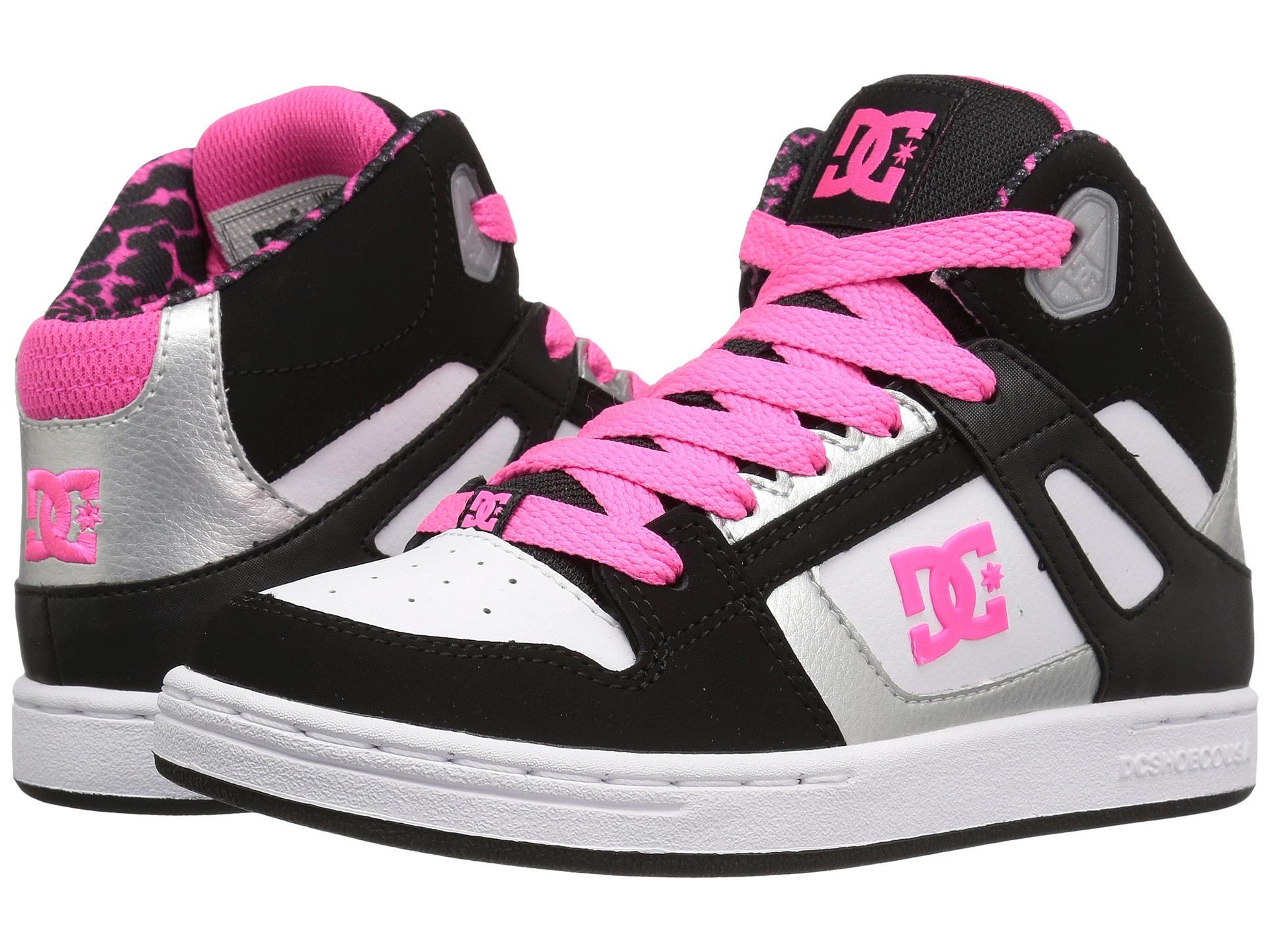 dc rebound se big kid black white pink zappos