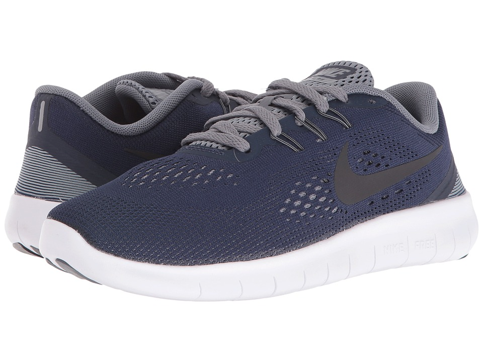 Nike Kids Free RN (Big Kid) (Midnight Navy/Cool Grey/White/Black) Boys Shoes