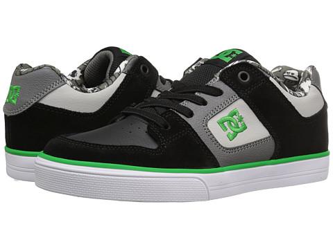 DC Kids Pure Elastic SE (Little Kid) - Black/Grey/Green