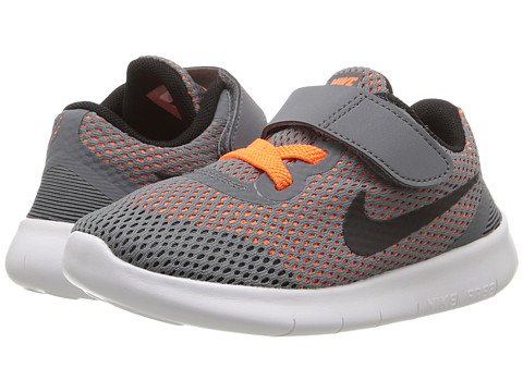 Nike Kids Free RN (Infant/Toddler) - Cool Grey/Total Orange/White/Black