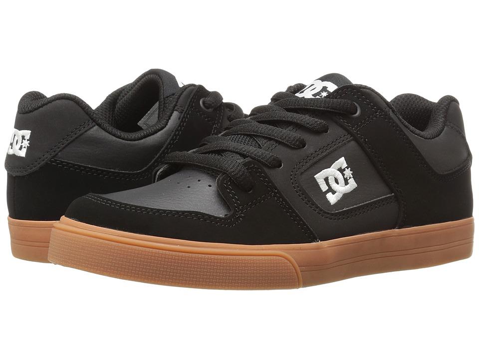 DC Kids - Pure (Big Kid) (Black/Gum) Boys Shoes