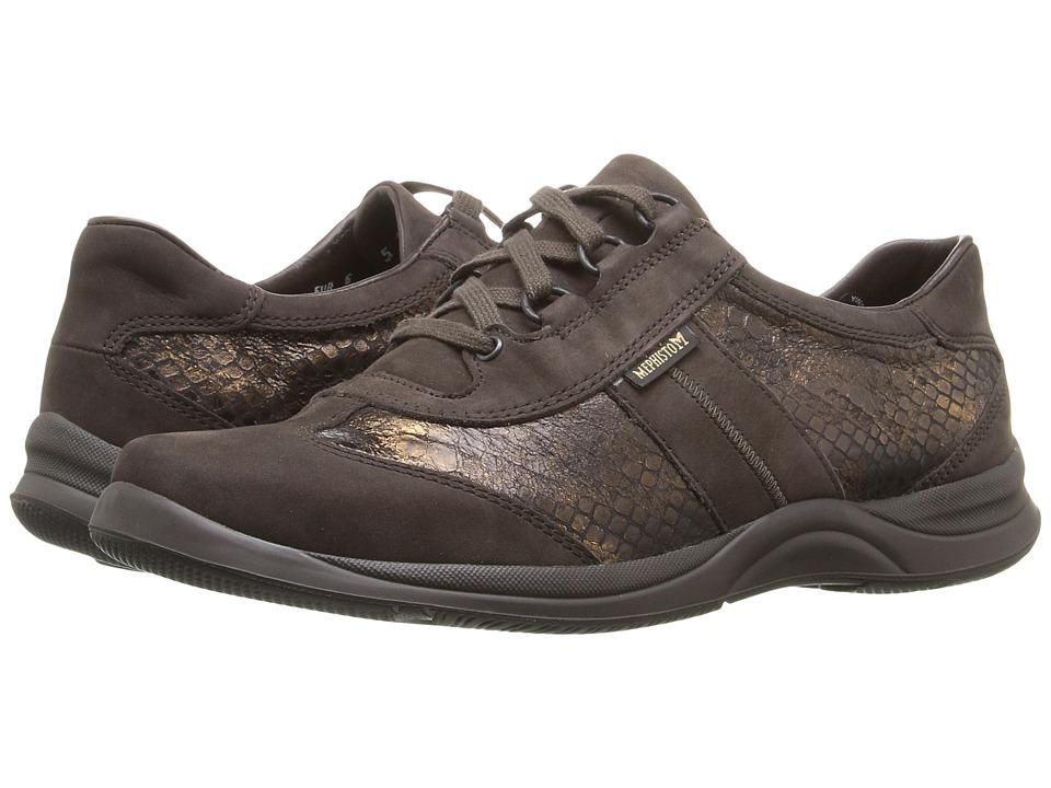 Mephisto Laser (Dark Brown Bucksoft/Bronze Queen) Women's Shoes