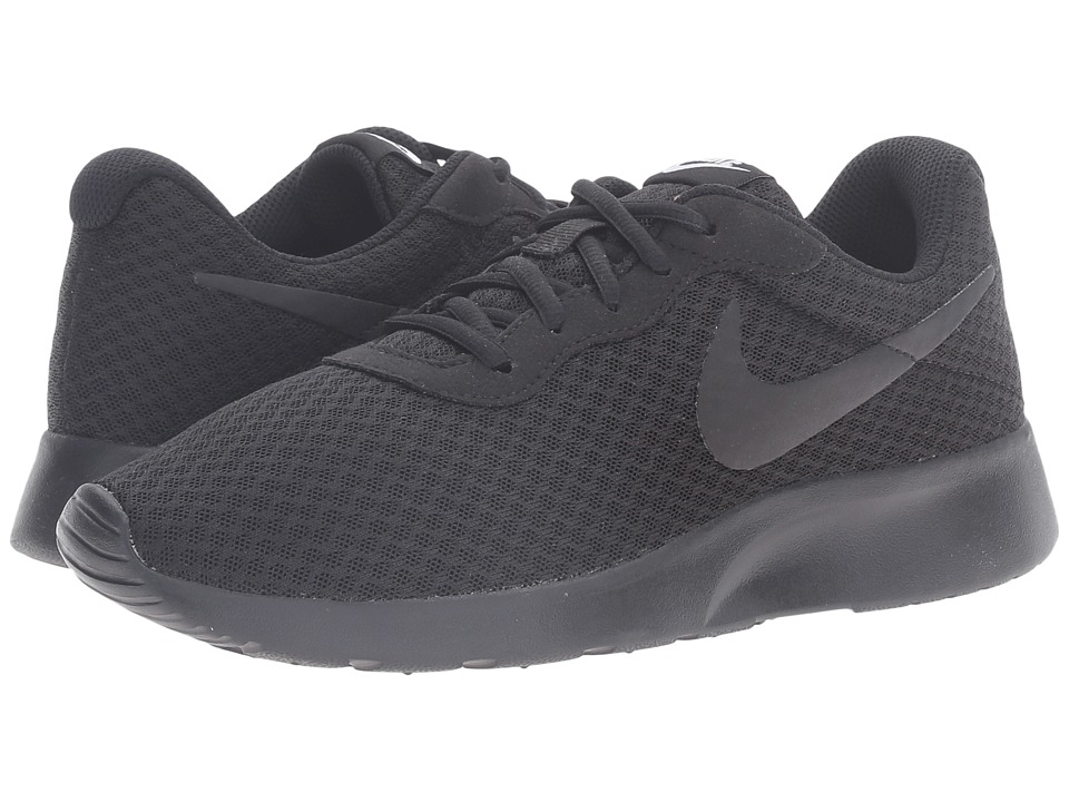 Nike - Tanjun (Black/Black/White) Womens Running Shoes