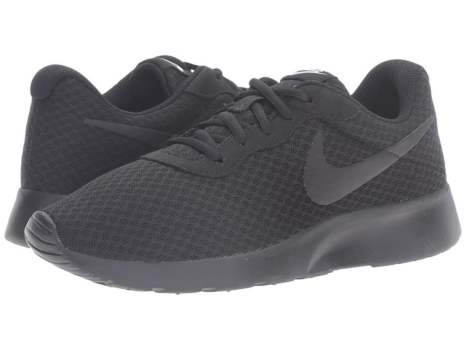 Nike - Tanjun (Black/Black/White) Womens Running Shoes