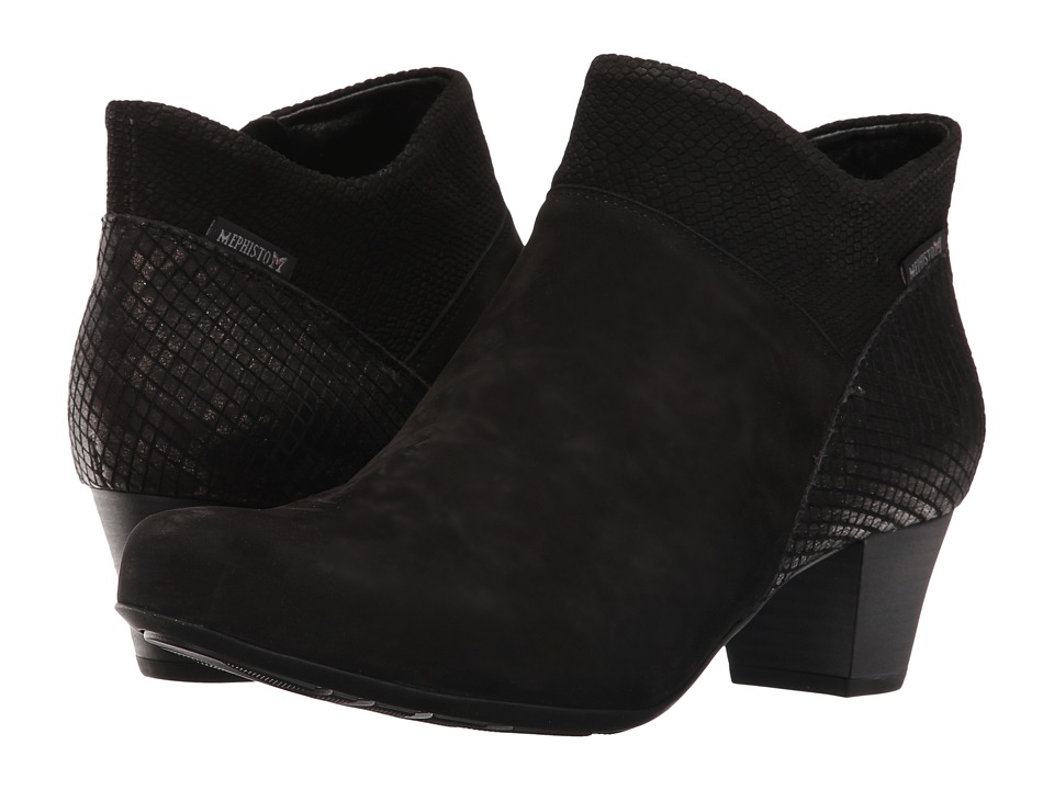 Mephisto Michaela (Black Bucksoft/VIP/Snake) Women's Boots