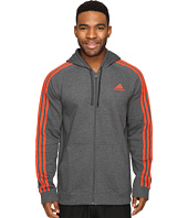 adidas - Essentials Cotton Fleece 3-Stripes Full Zip Hoodie