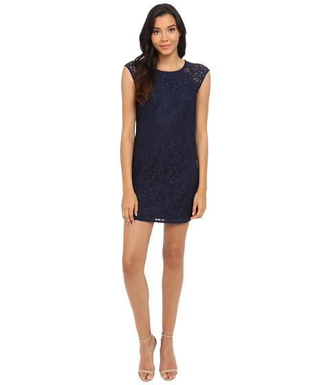 Laundry by Shelli Segal Lace Shift Dress with Side Zippers