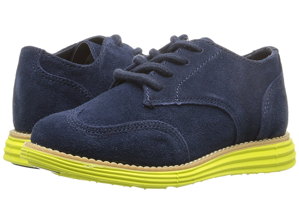 Cole Haan Kids - Grand Oxford (Toddler/Little Kid) (Navy/Wasabi Green) Boys Shoes