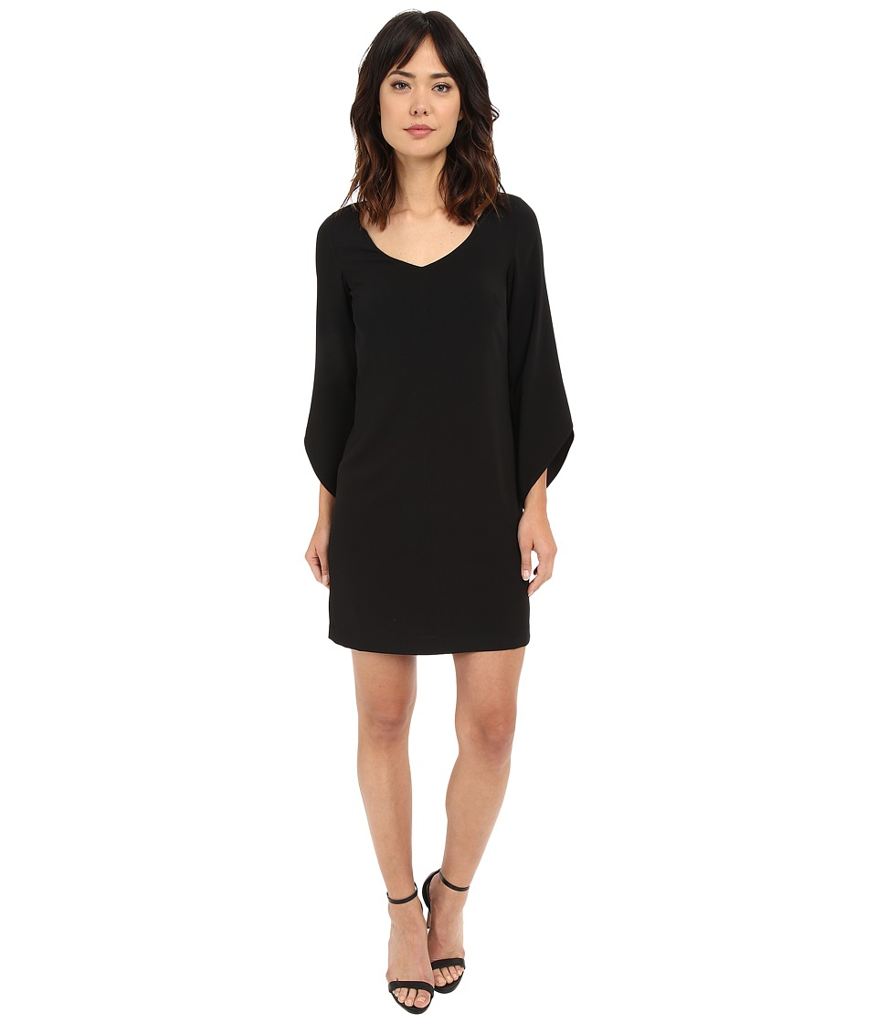 Laundry by Shelli Segal - Crepe T-Body with 3/4 Tulip Sleeve (Black) Womens Dress