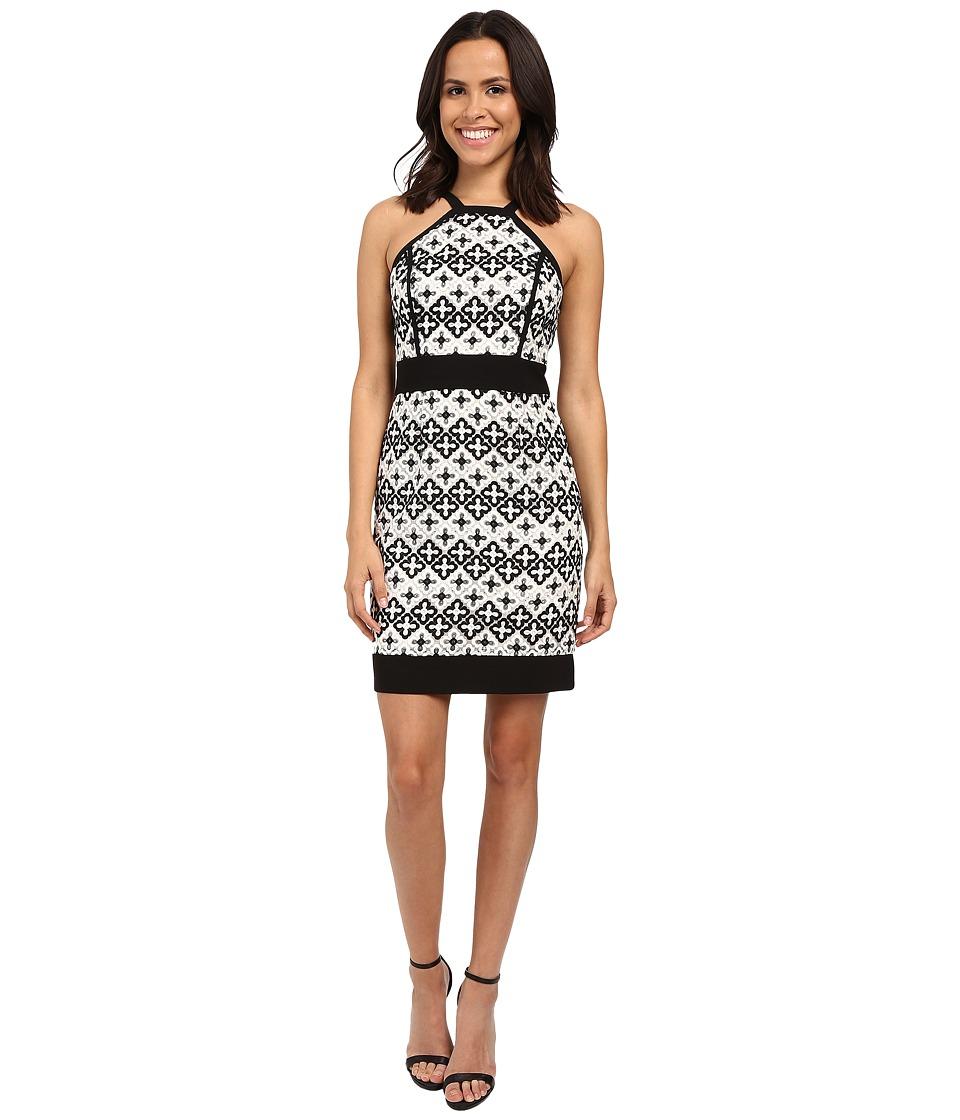 Laundry by Shelli Segal Cut Away Novelty Sheath Dress Black Womens Dress
