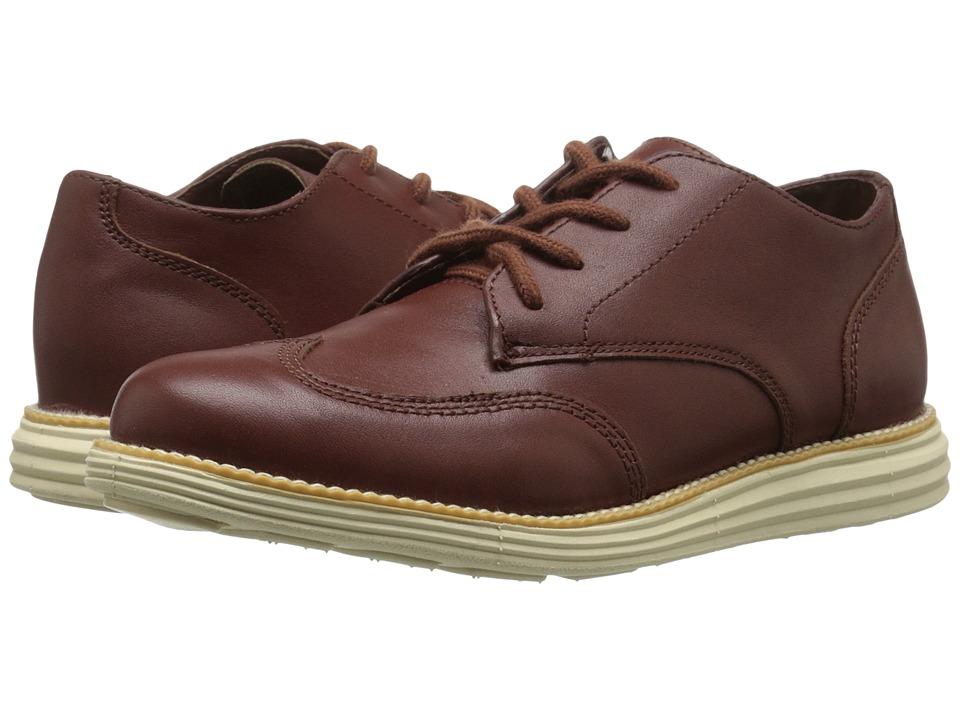 Cole Haan Kids Grand Oxford Little Kid/Big Kid Woodbury Brown/Cream Boys Shoes