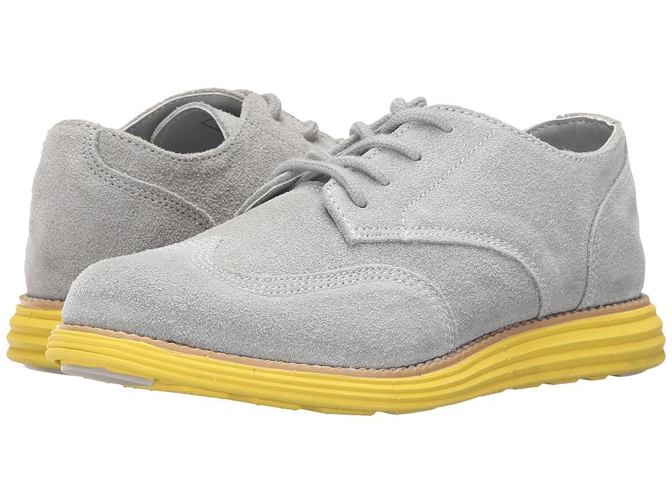 Cole Haan Kids Grand Oxford Little Kid/Big Kid Grey/Volt Yellow Boys Shoes