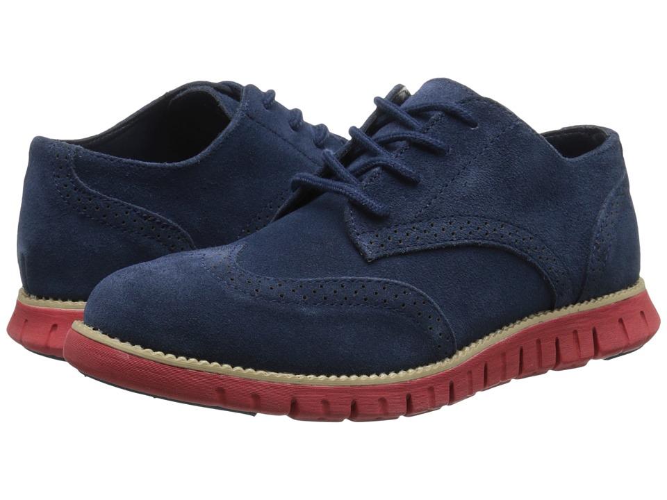 Cole Haan Kids - Zerogrand Oxford (Little Kid/Big Kid) (Navy/Red) Boys Shoes