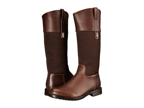 Cole Haan Kids Brennan Riding Boot (Little Kid/Big Kid) - Chocolate/Chocolate Print