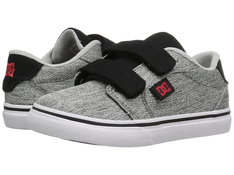 DC Kids - Anvil V TX SE (Toddler) (Grey/Black/Red) Boys Shoes