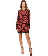 Just Cavalli - All Over Lips Long Sleeve Runway Dress