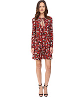 Just Cavalli - Pin Up Printed Long Sleeve Runway Dress