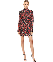 Just Cavalli - Crazy Lips Printed Long Sleeve Runway Dress