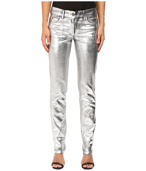 Just Cavalli Laminated 3D Stretch Five-Pocket Runway Denim