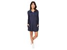 Image of kensie - Drapey French Terry Dress KS8K9S32 (Heather Navy) Women's Dress