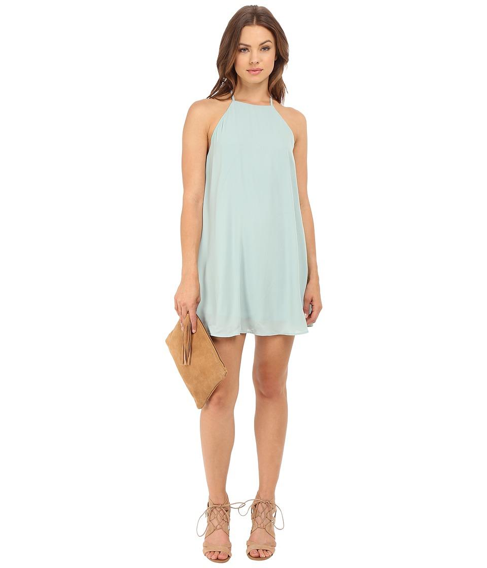 Show Me Your Mumu Gomez Mini Dress Sea Mist Crisp Womens Dress