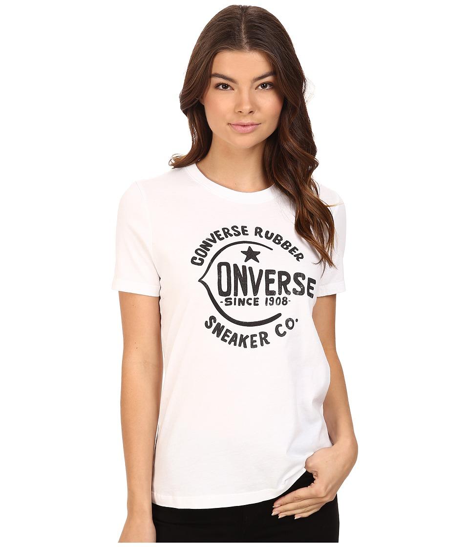 Converse - Archive Logo Short Sleeve Tee (White) Women