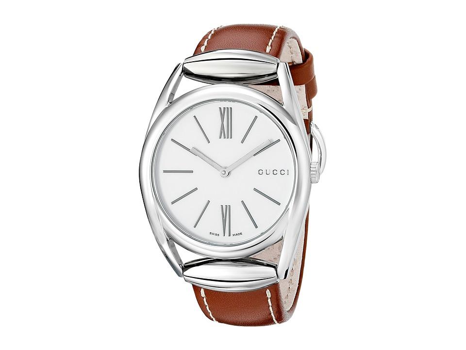 Gucci Horsebit YA140402 Brown/Steel Watches