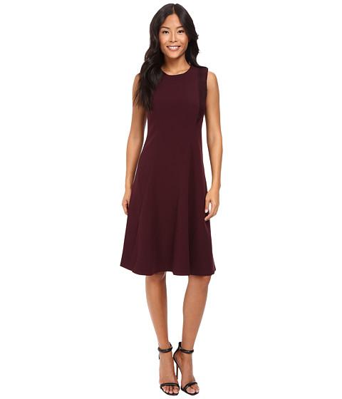 Ellen Tracy Lace Inset Soft Flare Dress