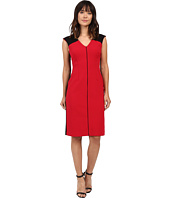 Ellen Tracy - Color Block Piped Sheath
