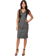 Ellen Tracy - Seamed V-Neck Sheath Dress