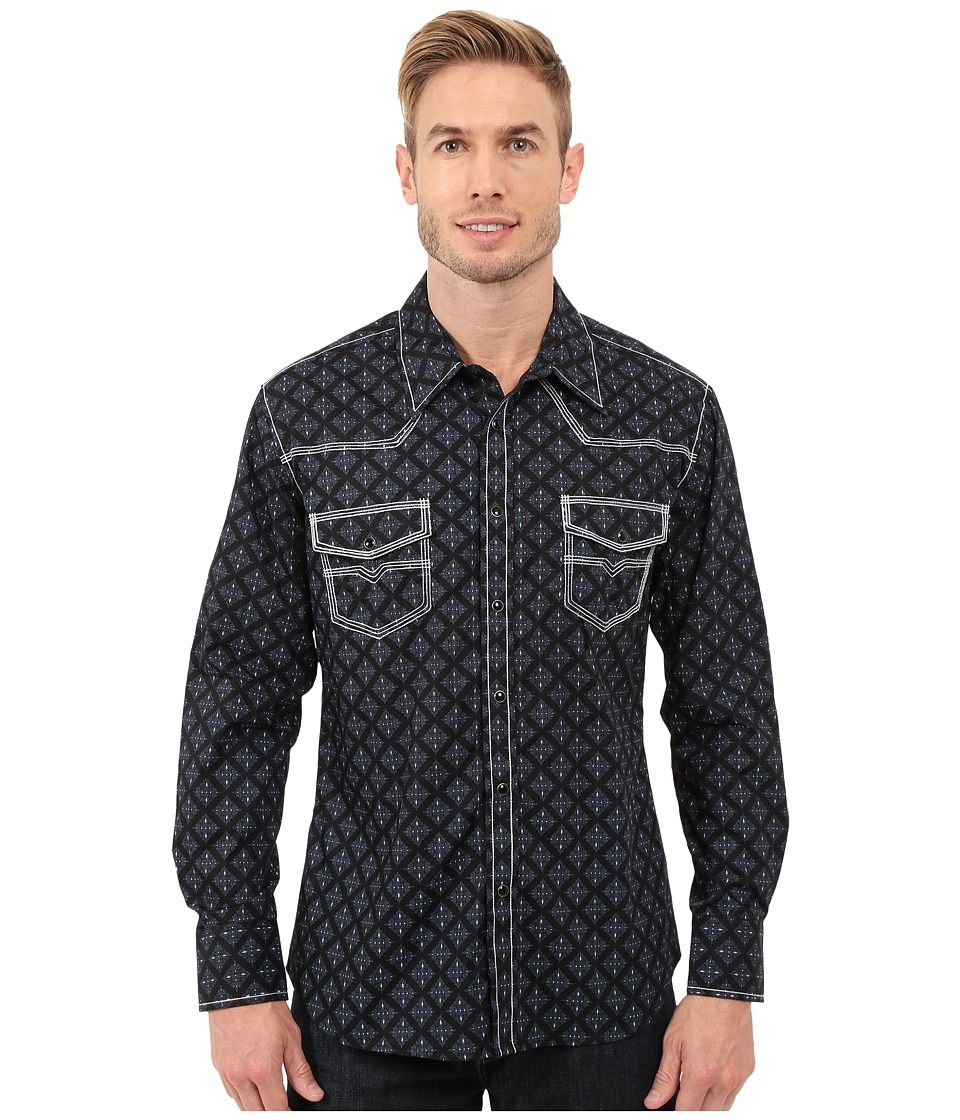 Rock and Roll Cowboy Long Sleeve Snap B2S7279 Black Mens Long Sleeve Button Up