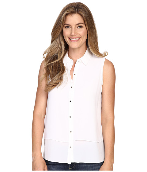 Ellen Tracy Sleeveless Double Layer Shirt