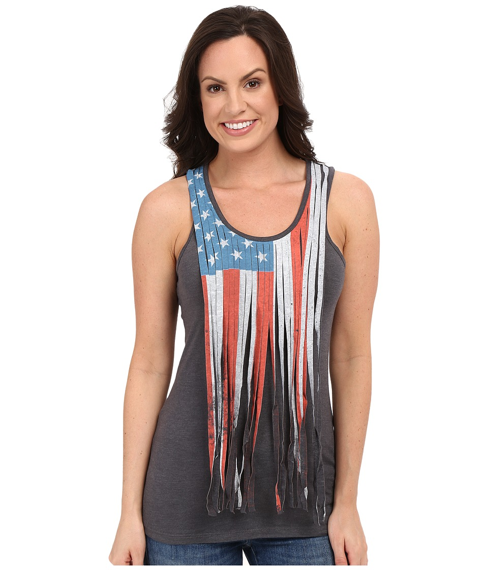 Rock and Roll Cowgirl Knit Tank Top 49 7213 Charcoal Womens Sleeveless