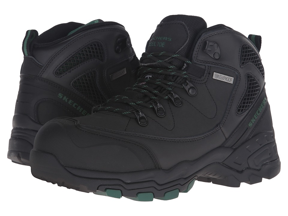 SKECHERS Work Surren (Black Crazyhorse Leather) Men