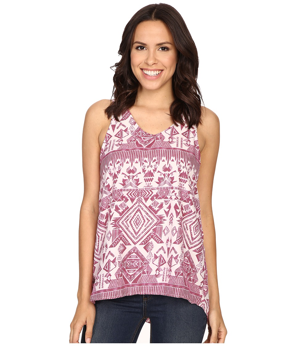Rock and Roll Cowgirl Sleeveless Top B5 7066 Hot Pink Womens Sleeveless