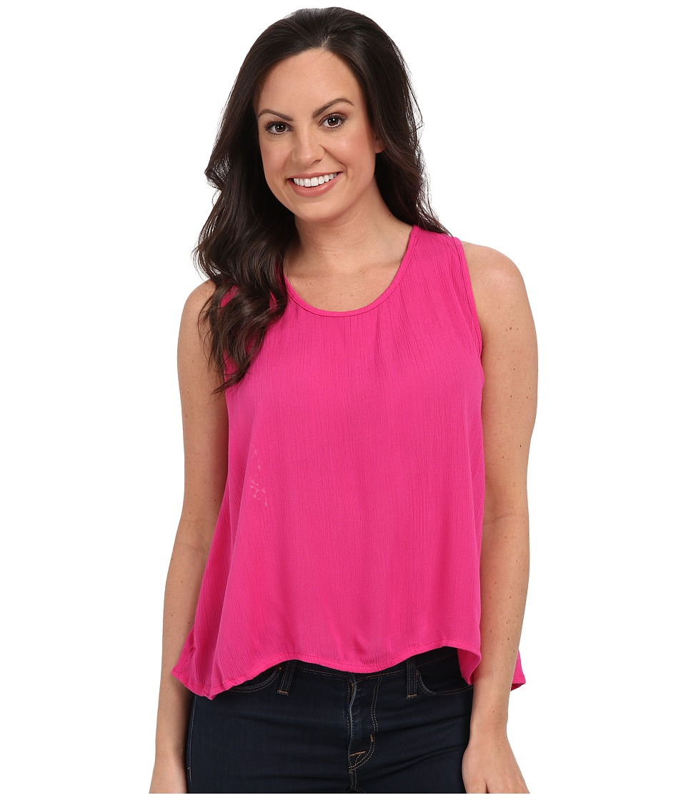 Rock and Roll Cowgirl Sleeveless Top B5 7320 Hot Pink Womens Sleeveless