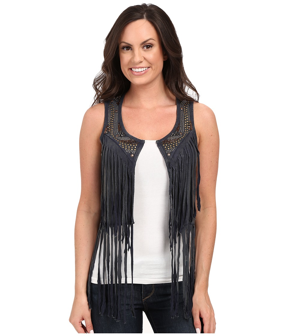 Rock and Roll Cowgirl Vest 49V7259 Charcoal Womens Vest