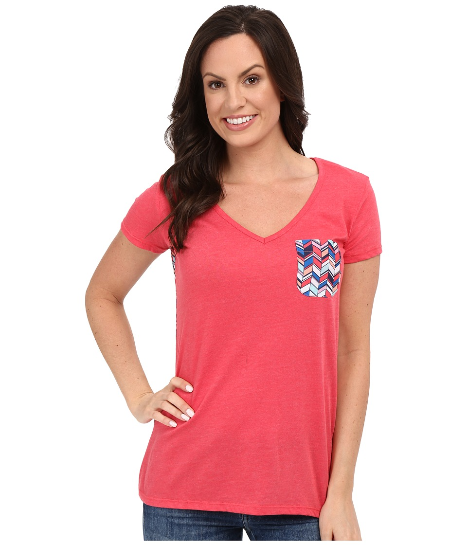 Rock and Roll Cowgirl Short Sleeve Knit 49T7247 Hot Pink Womens Short Sleeve Pullover