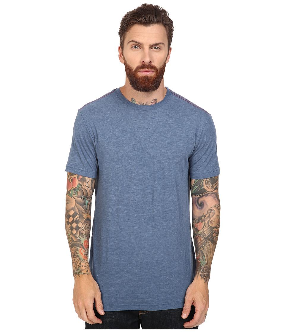 RVCA - Label Vintage Dye Tee (Stellar Blue) Men
