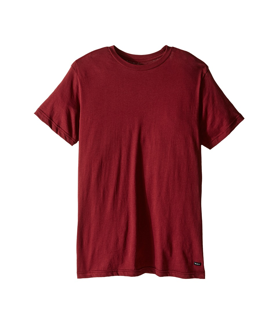 RVCA Label Vintage Wash Tee (Tawny Port) Men