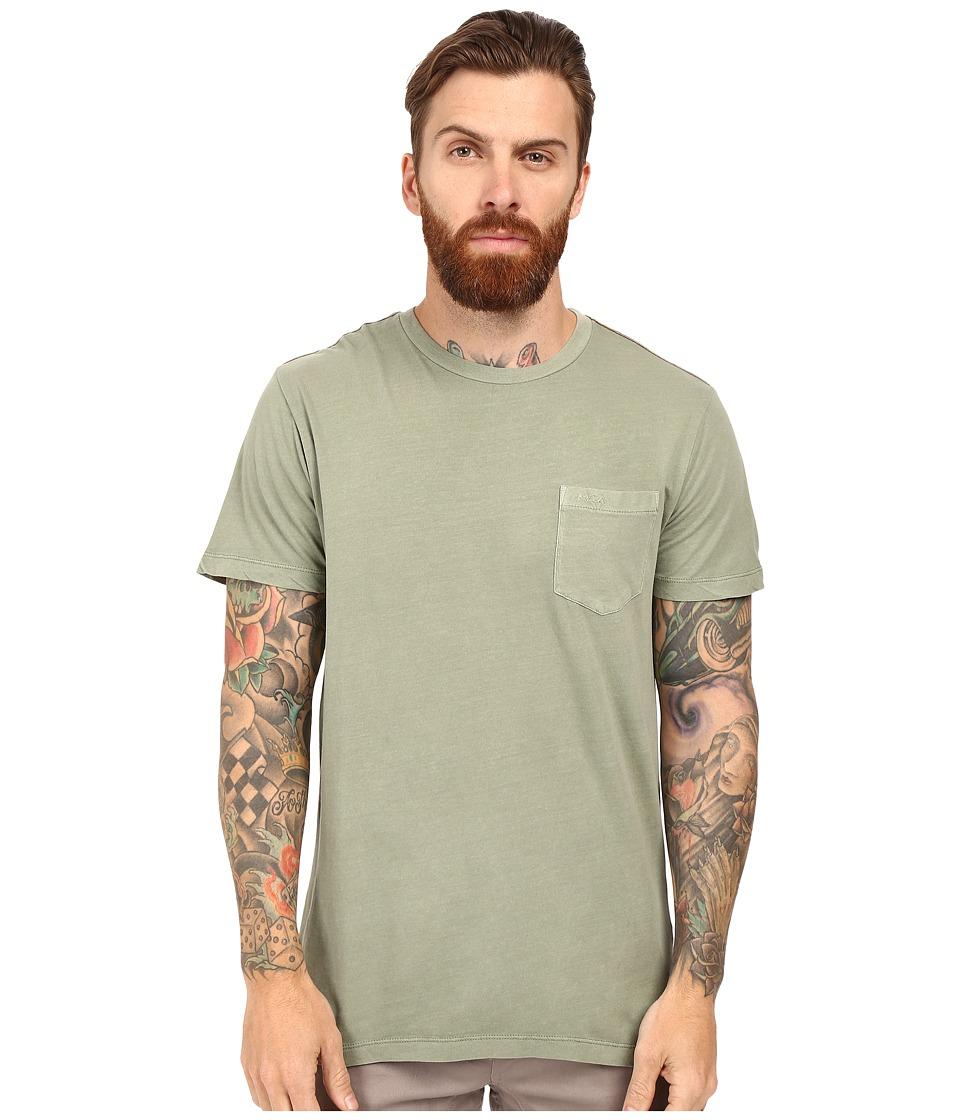 RVCA - PTC 2 Pigment Knit Tee (Cadet Green) Men