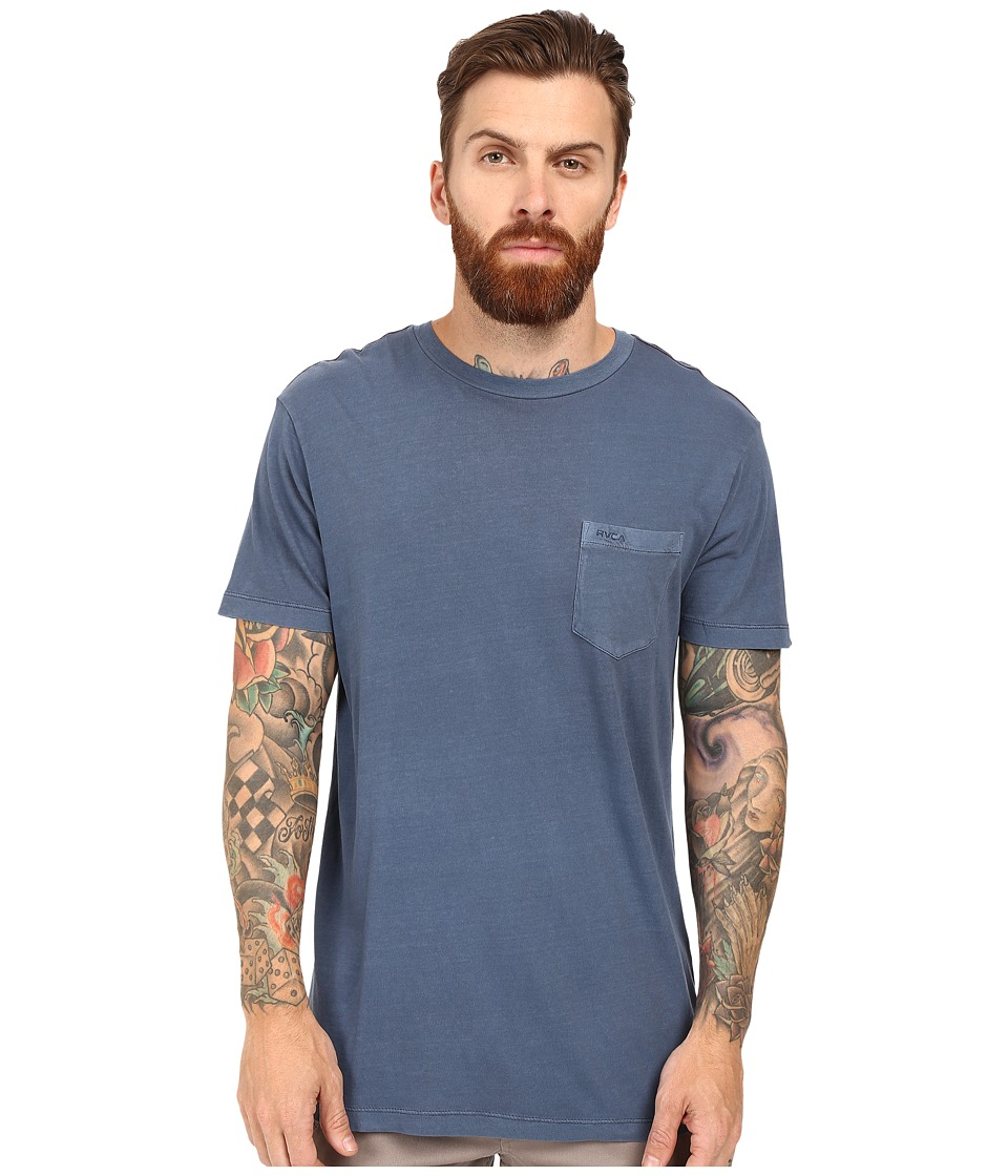 RVCA PTC 2 Pigment Knit Tee (Dark Denim) Men