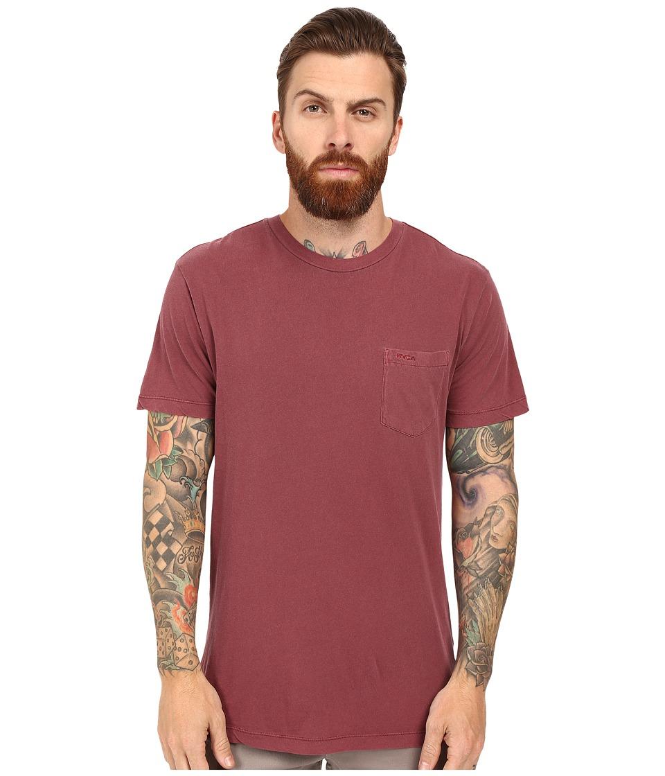 RVCA - PTC 2 Pigment Knit Tee (Tawny Port) Men