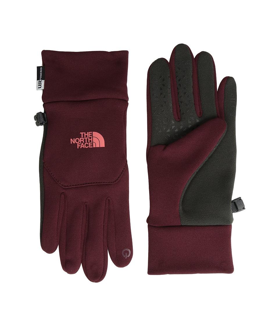 The North Face Etip Gloves (Deep Garnet Red) Snowboard Gloves